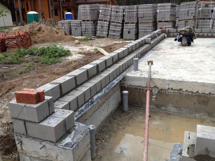 Стены из керамзитобетонного блока своими руками 8